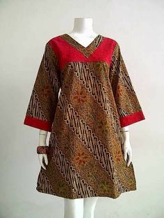 African Fashion Dresses, African Print Fashion, African Attire, African Dress, Blouse Batik, Batik Dress, Baju Batik Couple, Batik Fashion, Hijab Fashion