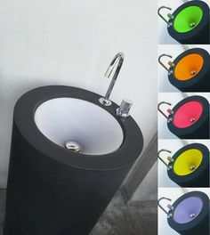 Cylinder Pedestal Sink