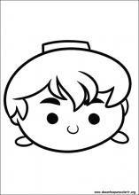 Desenhos do Tsum Tsum para colorir