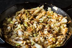 Stir-Fried Cabbage with Fennel Seeds by Madhur Jeffrey, food52 #Cabbage #Stir_Fry #Indian #Healthy