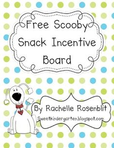 This little kit contains everything you need to make a dog themed magnet incentive board. Glue the Scooby Snacks labels to the top and bottom o...