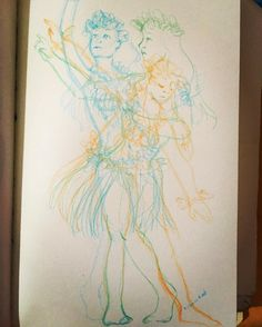 "37 Likes, 2 Comments - Meri Rodriguez Illustration (@meritxell_illustration) on Instagram: ""Ancestral dance  #illustration #sketchbook #sketching #dance #draw #drawing #sketch #sketching…"""