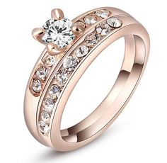 Find More Rings Information about Free shipping AC0093 new 2014 women's european style Austrian cystal inset finger ring diamante rose gold plated rings for women,High Quality Rings from New Day Mall on Aliexpress.com