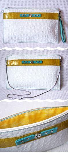 Bolso de cuero cosido a mano. Handcrafted leather bag, hand stitched