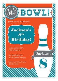 Go Bowling! Fabulous Invitation