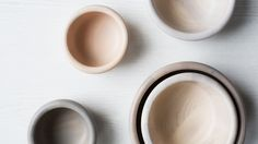 For the tabletop, consider these turned wood bowls. $45–$160.