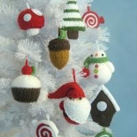 Christmas Ornament Knit Pattern Set - via @Craftsy  k