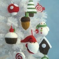 Knitting: Christmas Ornament Knit Pattern Set