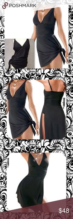 JUST IN#1 Selling Swimsuit Tankini 1PC Plus Sz #1 SELLING BATHING SUIT One-piece Swim Dress Swimsuit Bikini Swimwear Plus Size Tankini Color: Black