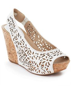 White-hot! Kenneth Cole Reaction #shoes #sandals #wedges #slingbacks #peeptoe BUY NOW!