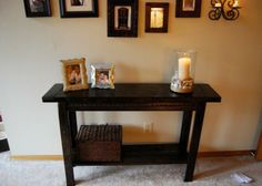 Easy Console Table | Do It Yourself Home Projects from Ana White