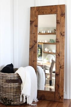 DIY Wood Framed Mirror | The Wood Grain Cottage