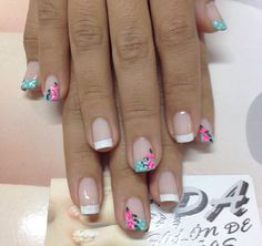 Uñas Spring Nail Art, Spring Nails, Gel Nail Art, Acrylic Nails, Hot Pink Nails, Finger, Nail Envy, Super Nails, Nail Decorations