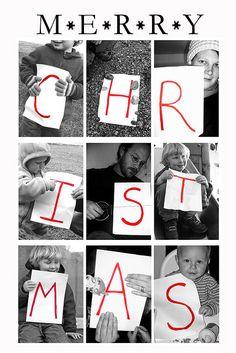 What a fun Christmas card idea