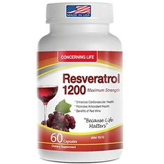 Resveratrol Supplement with Quercetin, Grape Seed Extract...