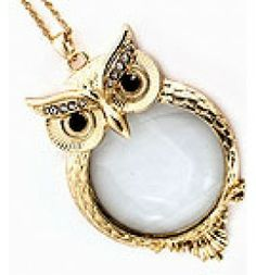 Owl Magnify Glass Necklace