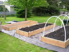 Raised beds under construction