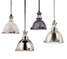 Massena pendant in white polished nickel, polished nickel, old bronze and satin nickel