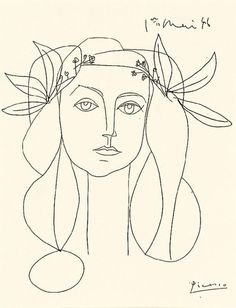 'Head, 1946' by Pablo Picasso. The model was Picasso's mistress Francoise Gilot.