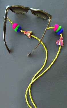 Sunglass strap, Chain for sunglass, boho tassel lanyard, sunglass accessories straps, Boho Glass Ret