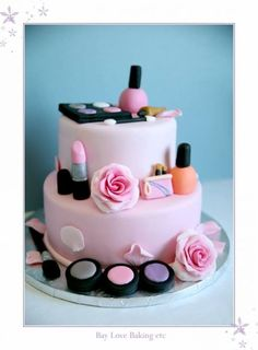 Gateau deco girly