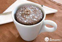 ¿Aún no los has probado? Los hará en un plis plas, Mug cake de chocolate http://www.recetasderechupete.com/mug-cake-de-chocolate-perfecto/12621/ #receta