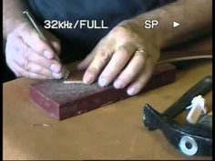 cinture in cuoio cucite a mano, leather belt handmade, - YouTube