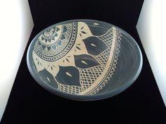 Sgraffito Mehndi Serving bowl