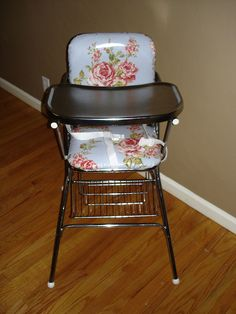 vintage high chair (vintage?  dang I ate off of one just like this when I was a kid!)