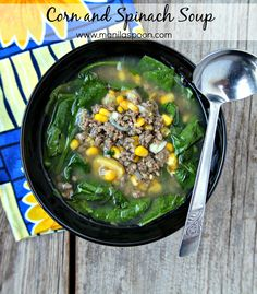 Corn and Spinach (Suam) Soup Recipe via @manilaspoon - naturally dairy-free, optionally gluten-free