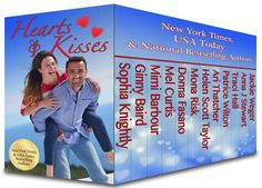 Hearts and Kisses: 12 Contemporary Valentine Novels and Novellas Boxed Set Kiss Books, Kiss And Romance, Contemporary Romance Novels, Friend Book, Book Review Blogs, Movie Covers, Book Covers, 12th Book, Day Book