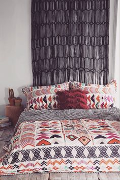 Make your duvet cover the center of attention. Go bold.