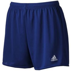Women's Adidas climalite Womens Pama 16 Soccer Shorts, Size: X SMALL,... ($13) ❤ liked on Polyvore featuring activewear, activewear shorts, dark blue white, adidas activewear, adidas and adidas sportswear