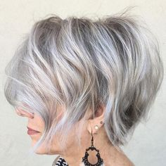 Hair cuts Tousled Gray Balayage Bob 50 Wedding Bells So, you have found your soul mate. Haircut For Older Women, Short Hair Cuts For Women, Short Hairstyles For Women, Bob Hairstyles, Short Haircuts, Classy Hairstyles, Layered Haircuts, Gorgeous Hairstyles, Popular Haircuts
