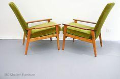 Mid-Century-FLER-Armchairs-x-2-Retro-Vintage-Scandi-Danish-Era-Fred-Lowen-Pair