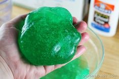 make your own slime. i want to try this on a weekend sometime :)