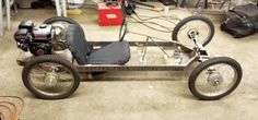 1938 CycleKart Race Car : Registry : The AutoShrine Network Motorized Big Wheel, Motorized Trike, Pedal Cars, Race Cars, Go Kart Designs, Diy Go Kart, Solar Car, Drift Trike, Kids Ride On