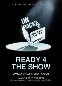 Confirmed: Samsung Galaxy SIV to be unveiled on March 14