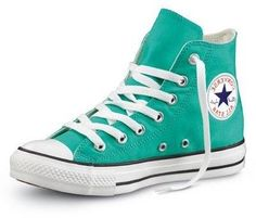 Turquoise high top Converse. I need these!!!