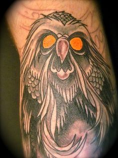 """Tattoo of the Great Owl from """"The Secret of NIMH"""""""