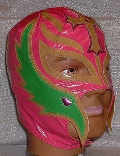 WWE Rey Mysterio Kid Size Replica Pink Mask by WWE. $27.90. Brand New Officially Licensed by WWE   WWE SUPERSTAR REY MYSTERIO KIDS SIZE PALE RED PRO-GRADE MASK   Series 1 WWE Rey Mysterio KIDS Size Replica Mask   Officially licensed by WWE   Made directly from Rey Mysterio's own mask   Fits most kids ages 8 & up (Simulated Leather). Save 60%!