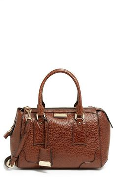 """Available in """"FLAX""""! Burberry 'Small Gladstone' Leather Satchel available at #Nordstrom"""