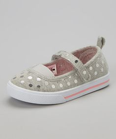 Another great find on #zulily! Gray Dot Cheren Mary Jane by Carter's #zulilyfinds