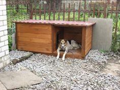 Утепленная будка для собаки с верандой