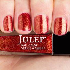 Karmen - Bombshell - Julep - Golden crimson micro glitter