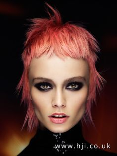 2016 Textured pastel pink mullet with choppy fringe - Hairstyle Gallery