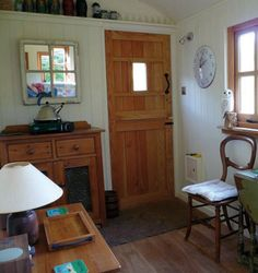 Gallery - Plankbridge Shepherd Hut's Dorset French Oak Flooring in a Shepherd Hut....  these are neat.