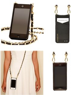 Bandolier iPhone 6 Cross Body Holder with Gold Chain