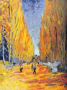 Les Alyscamps by Vincent Van Gogh