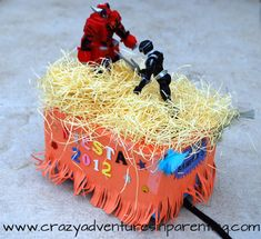 Decorating a San Antonio Fiesta Shoebox Parade Float. Omg I grew up making these how about you?